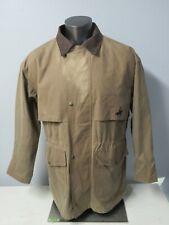 RCMP Vintage Brown Oilskin Jacket Size M Royal Canadian Mounted Police Full Zip