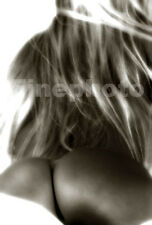 1995 AMBER Original Signed FEMALE NUDE Butt Fine Art Photograph By KELLY WRIGHT