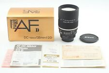 [Almost Unused in Box] Nikon DC Nikkor 135mm f/2 D Portrait AF Lens From Japan