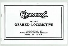 """CLIMAX GEARED LOCOMOTIVE 1924 CATALOGUE """"L"""", 1963 reprint, Softcover, 32 pages"""