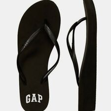 BNEW GAP Logo Womens Wedge  Sandals / Slippers / Flip flop - Size 6 Black