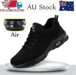 Lightweight Safety Shoes AIR Sport SNEAKERS Steel Toe Cap Work Boots Women Men