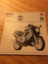 Triumph 1200 Trophy 4 1993 Carte moto Collection Atlas UK