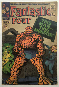 Fantastic Four 51 VG 4.0 Classic Cover, 1st Negative Zone, Marvel 1966