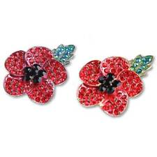 Accessories Crystal Badge Poppies Brooch Statements Chic Lapel Leaf Shae Pin O3