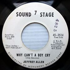 Jeffrey Allen SOUND STAGE 7 promo 45 Beyond The Next Hill Why Can't A Boy Cry fT
