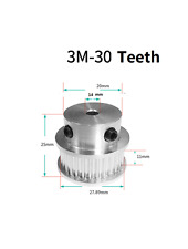 Bf 3M-30 Teeth Gt2 Timing Pulley Bore14 mm for Width 16mm A086