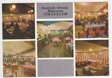 CPSM ISRAEL ישראל JERUSALEM Restaurant UMAYYAH ORIENTAL Multivues Edt PALPHOT