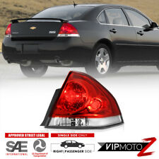 2006-2013 Chevy Impala Red Clear [PASSENGER SIDE] Rear Brake Tail Lights Lamps