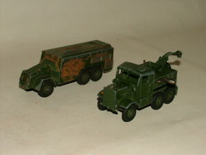 MILITARY DINKY TOYS DIECAST 1:43 No.661 RECOVERY TRACTOR & 677 ARMOURED COMMAND
