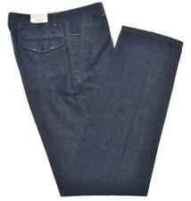 $ALE Brioni Pants 'Positano' Fine Denim Cotton Linen Size 30 Blue 03PT0217 $725