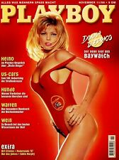PLAYBOY November 1996, Cover Donna d' Errico - Baywatch; Waffen, US-Cars, Wein