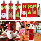 Christmas Decorations Red Santa Tree Wine Bottle Caps Cover Bags Dinner Party