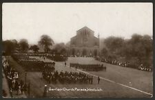 London. Woolwich. Garrison Church Parade, Woolwich - 1910 Real Photo Postcard