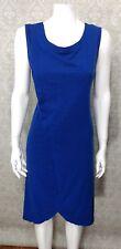 Reborn Womens Jersey Knit Dress Sz. L Blue Lagenlook Midi Sleeveless