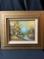Vintage Original C. Hirsch Oil Painting Landscape Artist Signed Framed