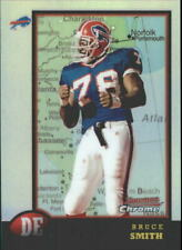 1998 Bowman Chrome Interstate Refractors Bills Football Card #149 Bruce Smith