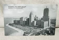 1930s Black & White Postcard CHICAGO'S GOLD COAST SECTION Unposted