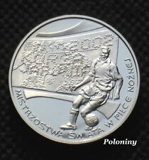SILVER 10 ZLOTY COIN POLAND - 2002 FIFA WORLD CUP SOCCER JAPAN & KOREA (MINT) Ag