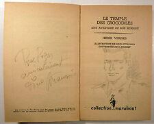 Attanasio DEDICACE Bob Morane Henri Vernes Le temple des crocodiles 1961 TBE