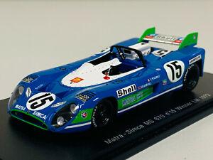 Spark Matra Simca MS 670 n°15 Winner 24h du Mans 1972 1/43 43LM72 0721
