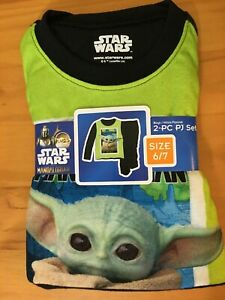 New Star Wars Boy Baby Yoda Flannel Pajama Mandalorina Many Sizes
