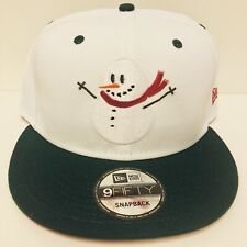 CHRISTMAS HOLIDAY SNOWMAN EMBROIDERED NEW ERA 9FIFTY SNAPBACK ADJUSTABLE HAT CAP
