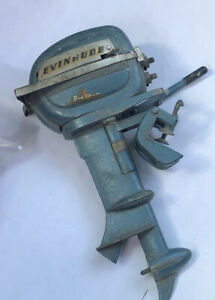 1950s K&O JOHNSON EVINRUDE Big Twin Electric 35HP Toy Outboard Model Boat Motor