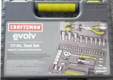 Craftsman Evolv 77 pc Mechanics Tool Set Socket Screwdriver Pliers Case SAE MM