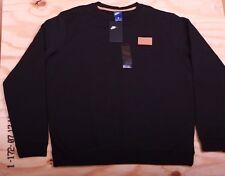 Nike Men's Sportswear Patch Crew Fleece Sweatshirt Black Beige AH8735 010 Sz S-L