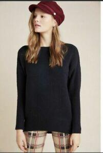 Women's XL By Anthropologie Naomi Black Slouchy Knit Sweater NEW