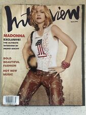 Interview Magazine March 2001 MADONNA Music/ Drowned World Tour