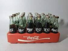 "Vintage Coca Cola Mini Bottles Plastic Crate 24 3""Bottles Foreign Languages"