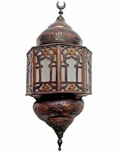 BR117 Unique Handmade Islamic LED Wall Sconce WHITE FROSTED GLASS