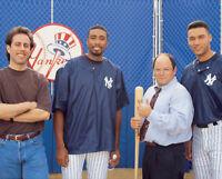 Jerry Seinfeld, Bernie Williams, George Costanza And Derek Jeter 8x10 Photo