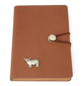 Highland Cow Notepad Jotter Notebook Record Book Ideal Farming Gift 179
