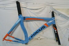 Focus Culebro TT Time Trial Triathlon Bike Frame Medium Blue/Orange Carbon Fork
