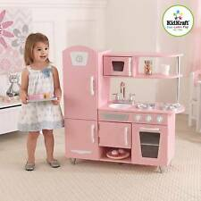 kidkraft vintage kitchen pink wooden pretend play children kids