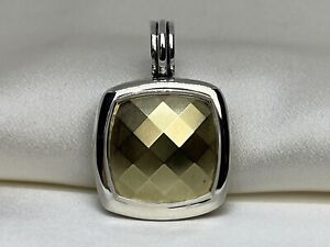 David Yurman Sterling Silver 925 26mm Albion Enhancer with 18k 750 Gold Dome