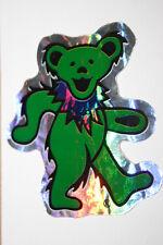 VINTAGE GRATEFUL DEAD GREEN DANCING BEAR FOIL STICKER (NEVER OPENED)