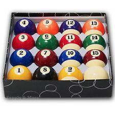 "Deluxe Billiard balls Pool Standard Size 2 1/4"" Regulation 2.25"" Full Table Set"