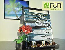Cisco Ccent Ccna Ccnp R&S Voice Security Home Lab Kit 12U Desktop Rack Incl