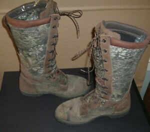preowned men low country rocky's waterproof snake boots size 10mw model 7514