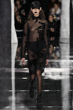 $2425 Authentic FENTY x PUMA RIHANNA Women's Sheer Graphic Mock Neck Tunic Dress