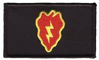 "25th Infantry Division 2"" x 3"" Hook & Loop 2 Piece Black Patch EC73446 Licensed"