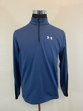 Under Armour Quarter Zip 1/4 Small Coldgear Storm Fitted Blue