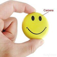 Clip On Yellow Smiley Face Emoji Hidden Spy video Camera Pin w Audio Recording