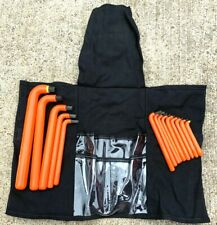 """NEW CEMENTEX HWS-14L 14-Pc 1000v Insulated Long Arm Hex Wrench Set 1/16"""" - 1/2"""""""
