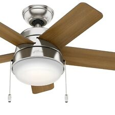 Hunter Fan 36 in. Modern Ceiling Fan with LED Light in Brushed Nickel