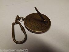 Antique Bronze Finish,Brass-Sundial,Calendar Key Chain,Pendant,Steampunk,Quality